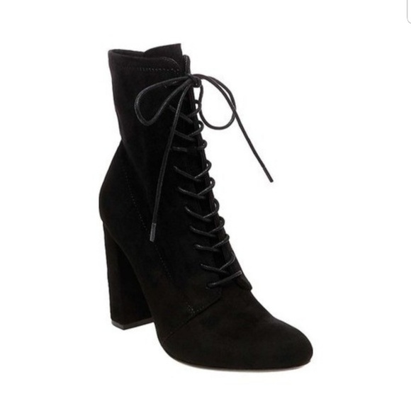 a5c656016dd Steve Madden Elley faux suede lace up booties